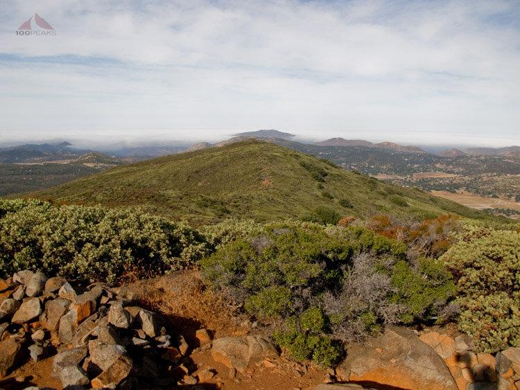 Ridgeline to the west