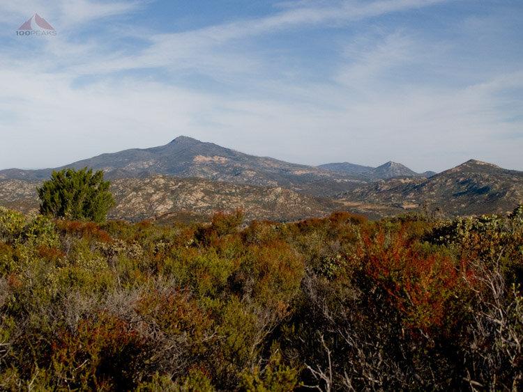 Cuyamaca, Stonewall and Oakzanita Peaks from Guatay Mountain