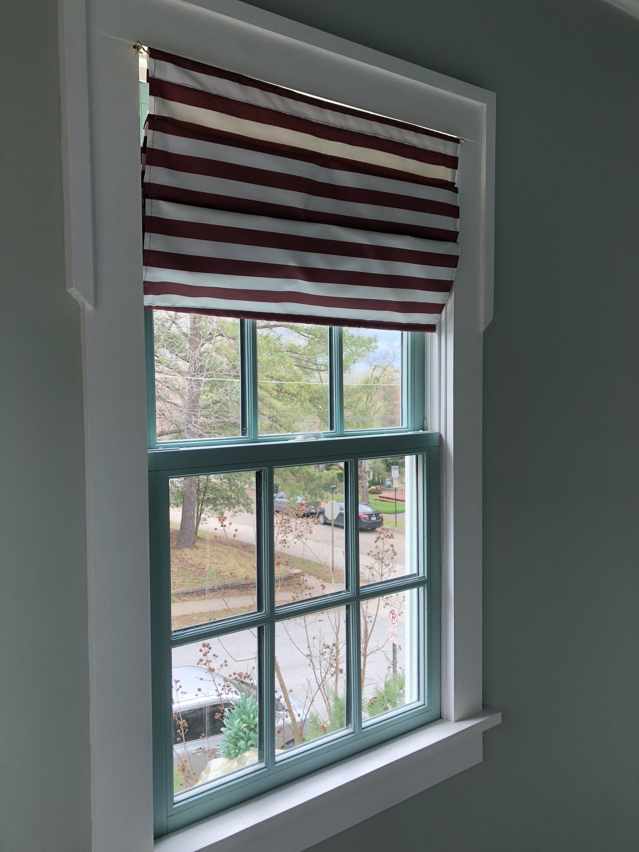 Roman Shade Window Treatment Hack