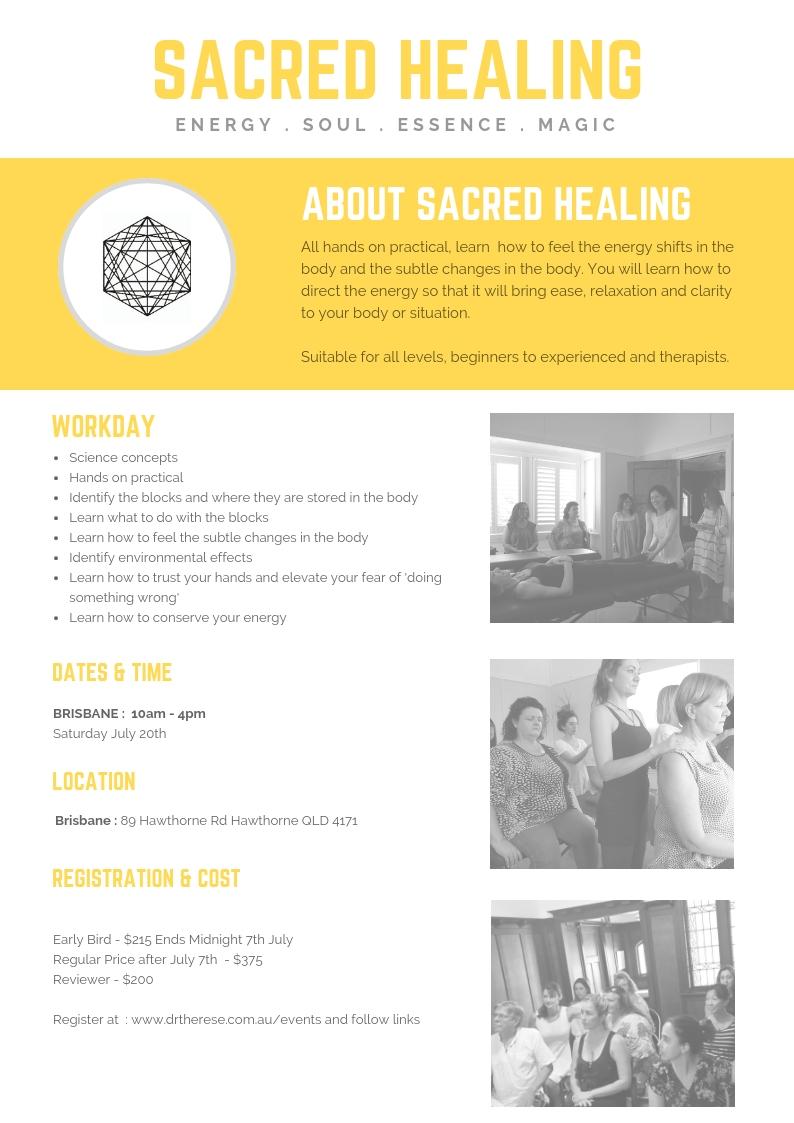 Register  - https://www.eventbrite.com.au/e/early-bird-sacred-healing-workshop-brisbane-tickets-63546931583