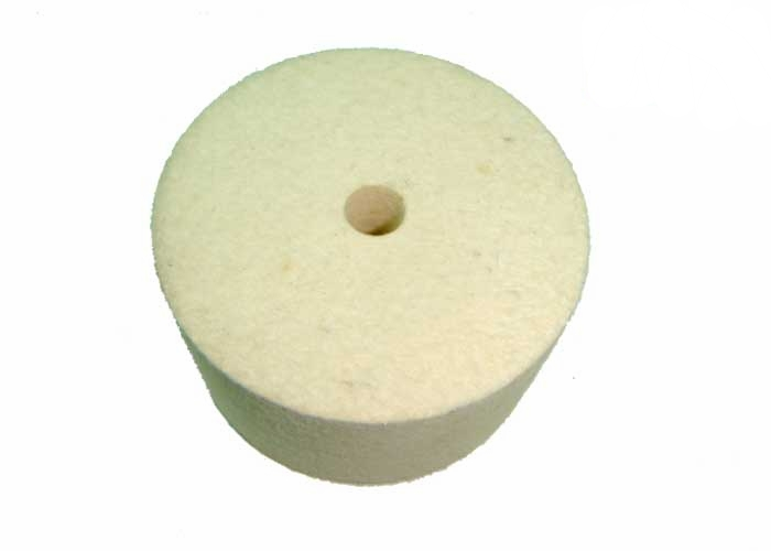 HP76  -R Spare Felt Wheel for HP76  φ    Material: Wolle rohweiB Quality: WR65 Density: 0.48g/ cm^3 Height: 40mm Hole: 9mmφ