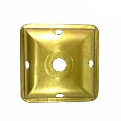 """O4LCAP Brass Square Large Caps with Vent   Four-sided vase caps, spun brass, unfinished. Side length 2-3/4""""(70mm)"""