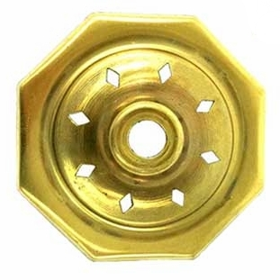 """O8VCAP 8 Sided   Vented Brass Vase Caps   With diamond vented. Side length: 1-1/4""""(32mm)"""