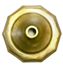 """O10CAP 10 Sided Brass Vase Caps   Side length: 1""""(25mm)"""