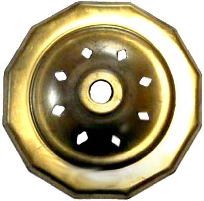 """O12VCAP 12 Sided   Vented Brass Vase Caps   With diamond vented. Side length: 3/4""""(19mm)"""