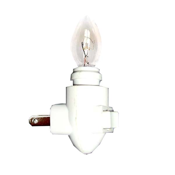 ON-01 Nite Lite with Bulb,   ON-OFF Switch   E12, 110V, Include bulb (7W), and with ON-OFF switch. Plugs directly into wall outlet.   *Noted: Nite lite and bulb are not pack together, will be packed separately for safety reason.