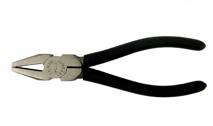 """PCJ-3 Leponitt 6-1/2"""" Breaker   3/8""""(10mm) jaw; 6-1/2"""" (165mm) long. Narrow jaw for precise breaker/grozer. Ideal for 2~6mmT glass use."""