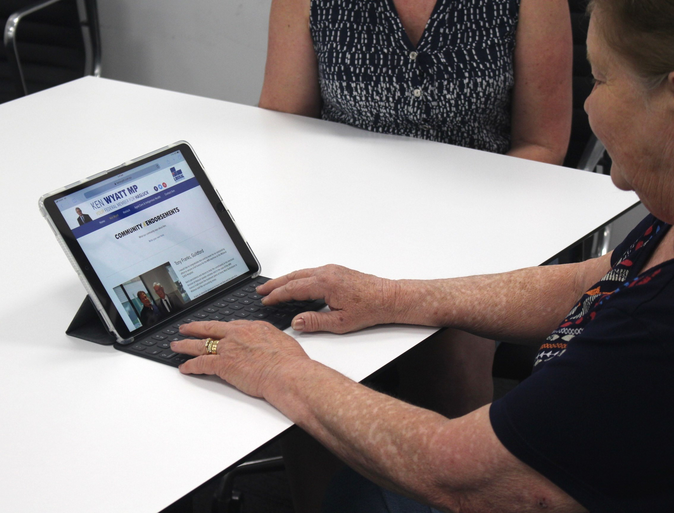 """Wendy Pearce, Local author - I rang the office and said """"I know you probably cant help, but I just need someone to listen to me."""" Not only did they listen, but Ken's office solved my issue with Centrelink in receiving the aged pension.For weeks I had boulders put in my way to get my pension approved, and like a road-grader, Linda from Ken's office just swept it all away within 48 hours. When I then called the office to thank Linda, a gentleman named Scott answered and was very patient with me; when I said to him that Linda was like a counsellor, he said """"that is what she is here for!""""Having met Ken on various occasions, I felt very confident that I could call his office and that he and his team would listen and be pro-active about my problem. Ken is a very approachable person, and I knew that his team would be a reflection of Ken. Hence I had no hesitation in coming to him in my hour of need."""