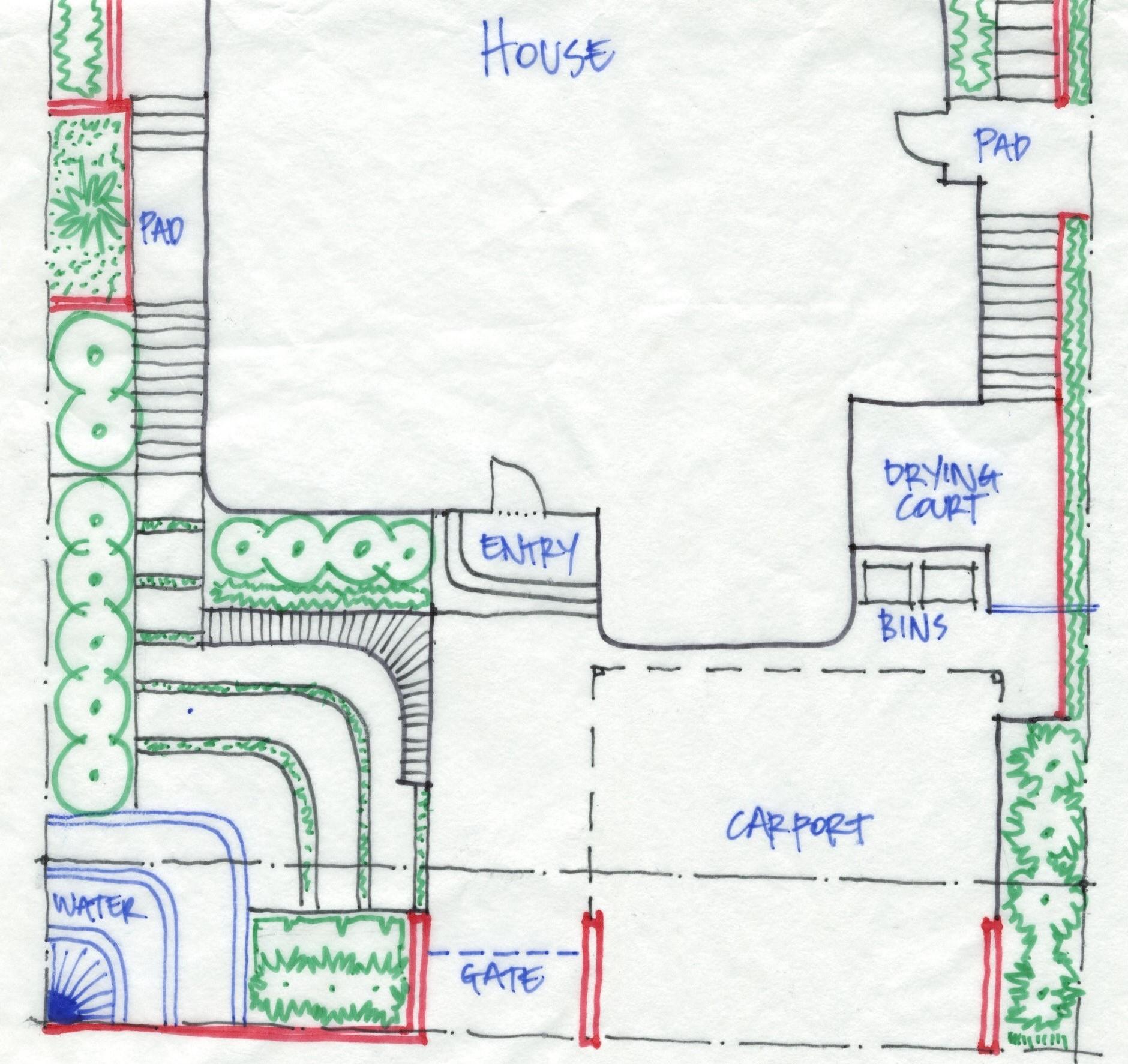 Hand drawn sketch plan