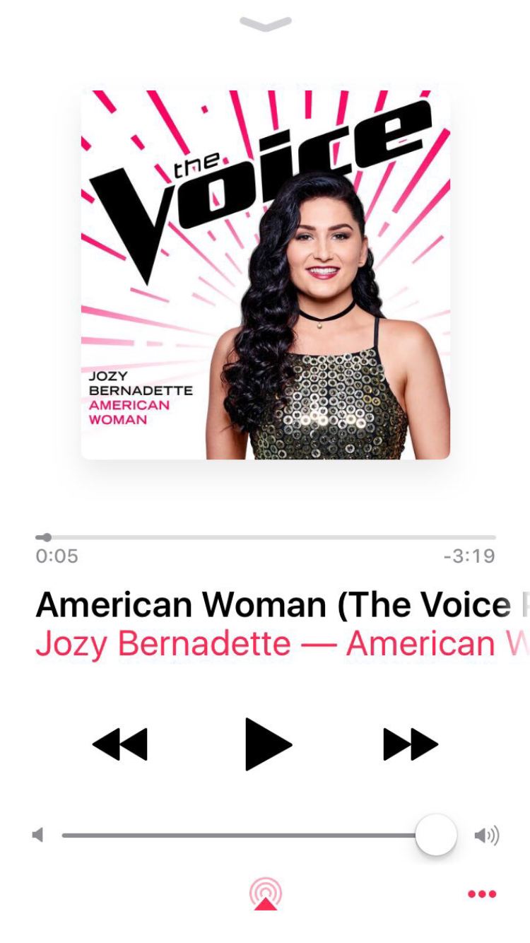 Jozy's Blind Audition Song - hear her female take on The Guess Who's hit!