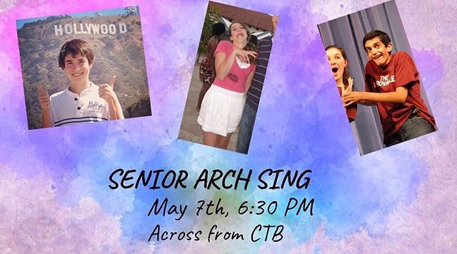 Join us next Tuesday (5/7) at 6:30 in Collegetown for our last performance of the semester, our senior arch sing! Our three graduating members will be singing their favorite solos, so come by and watch them sing with us for the last time (and make sure to follow us to the @cornellhangovers concert afterward 😉)