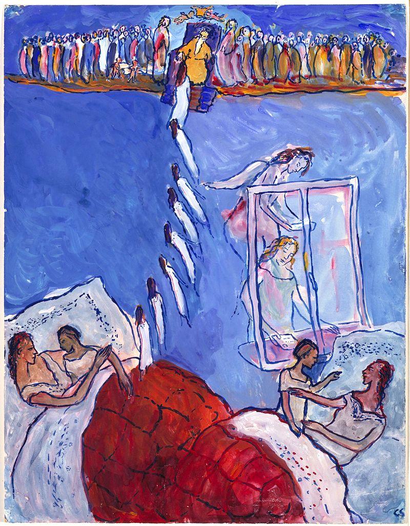 Charlotte Salomon, guassi kokoelmasta  Life? or Theater?  All the works by Charlotte Salomon are Courtesy the Jewish Historical Museum © Charlotte Salomon Foundation