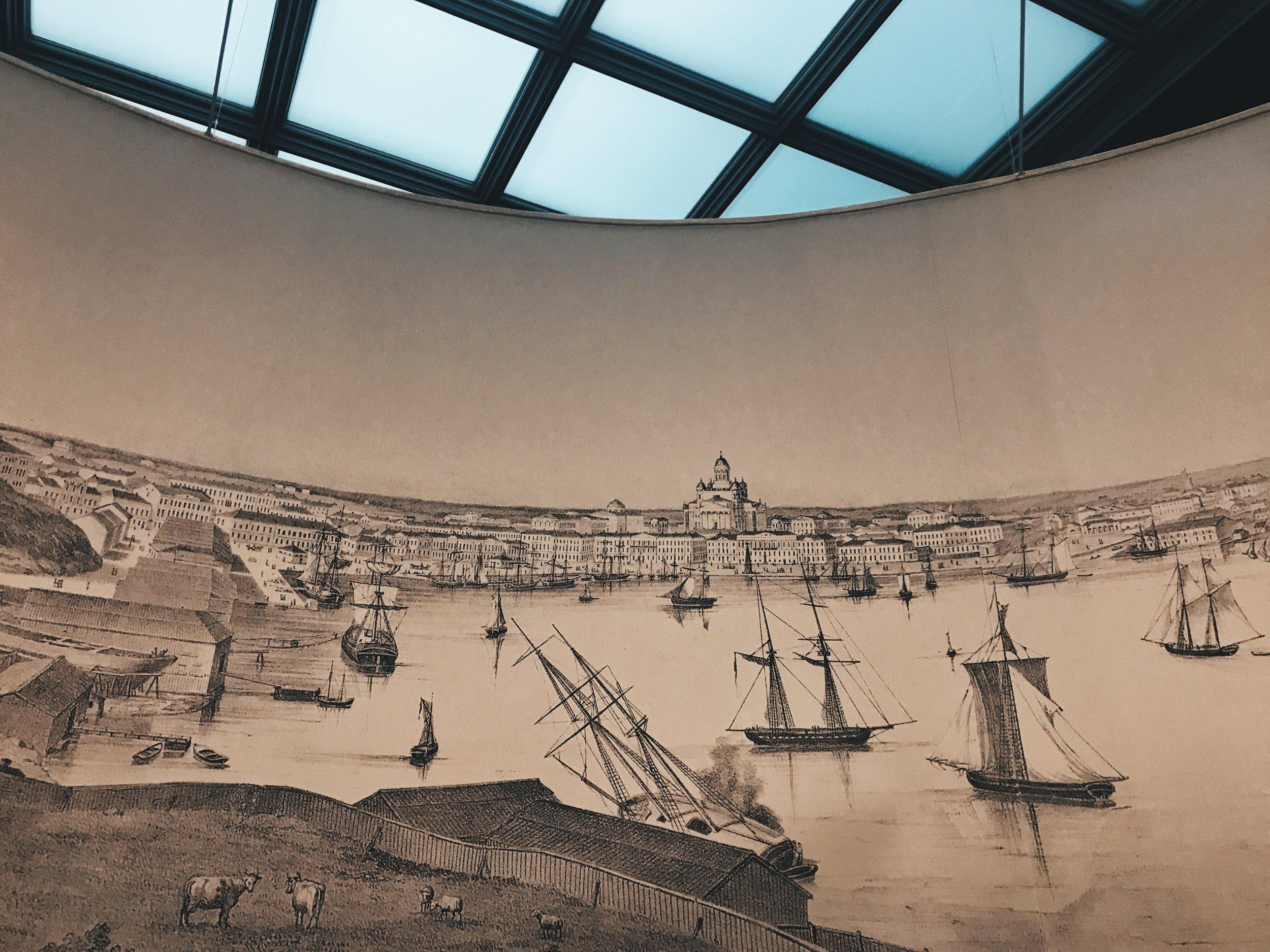 Magnuksen kuvaukset 1800-luvulla kohisten muuttuvasta Helsingistä ovat kaupungin historiasta kiinnostuneille antoisa nähtävyys.