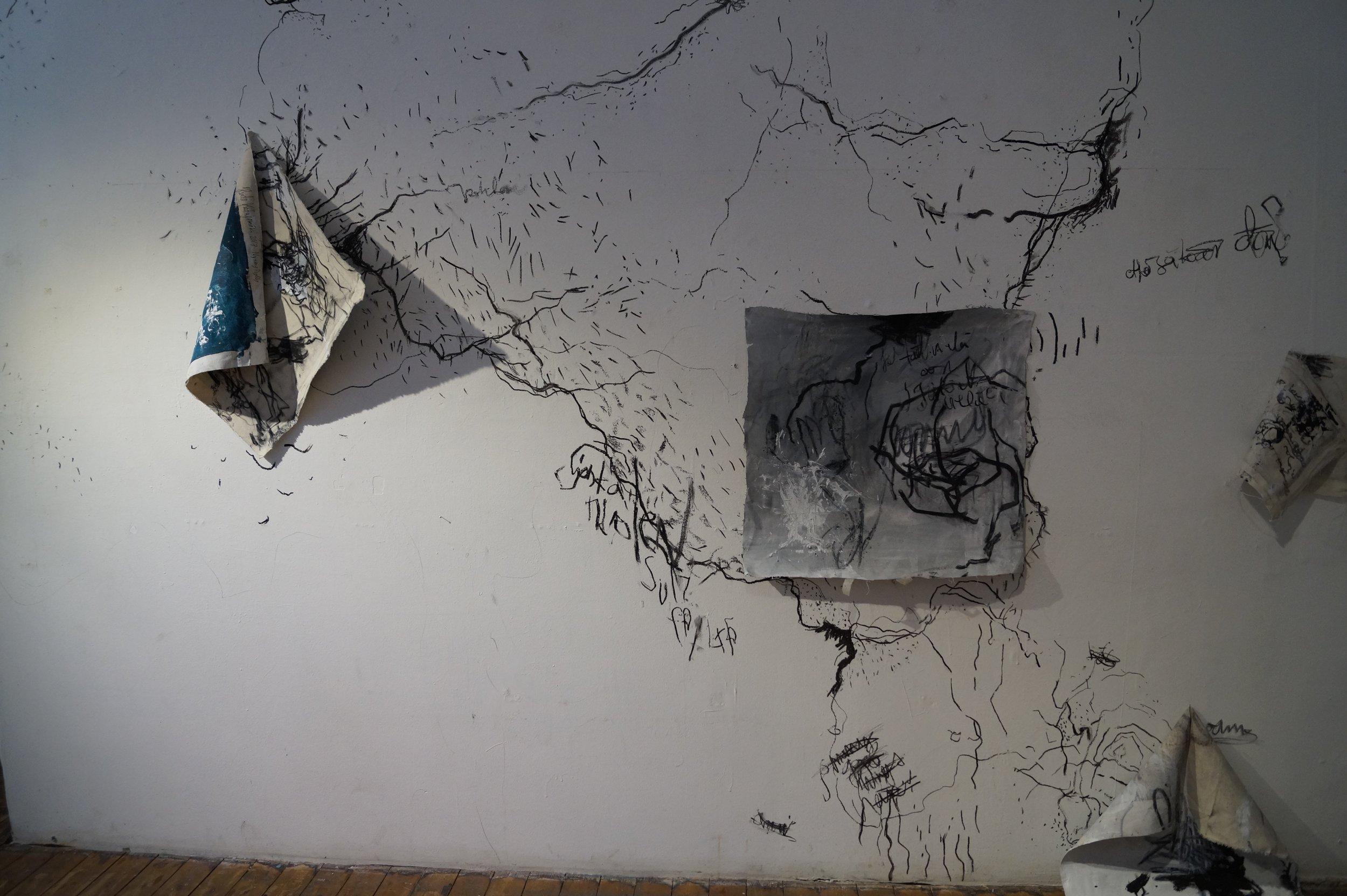 Heidi Katajamäen näyttelystä Nynny Pylly Myymälä 2 -galleriasta vuodenvaihteesta 2017-18.