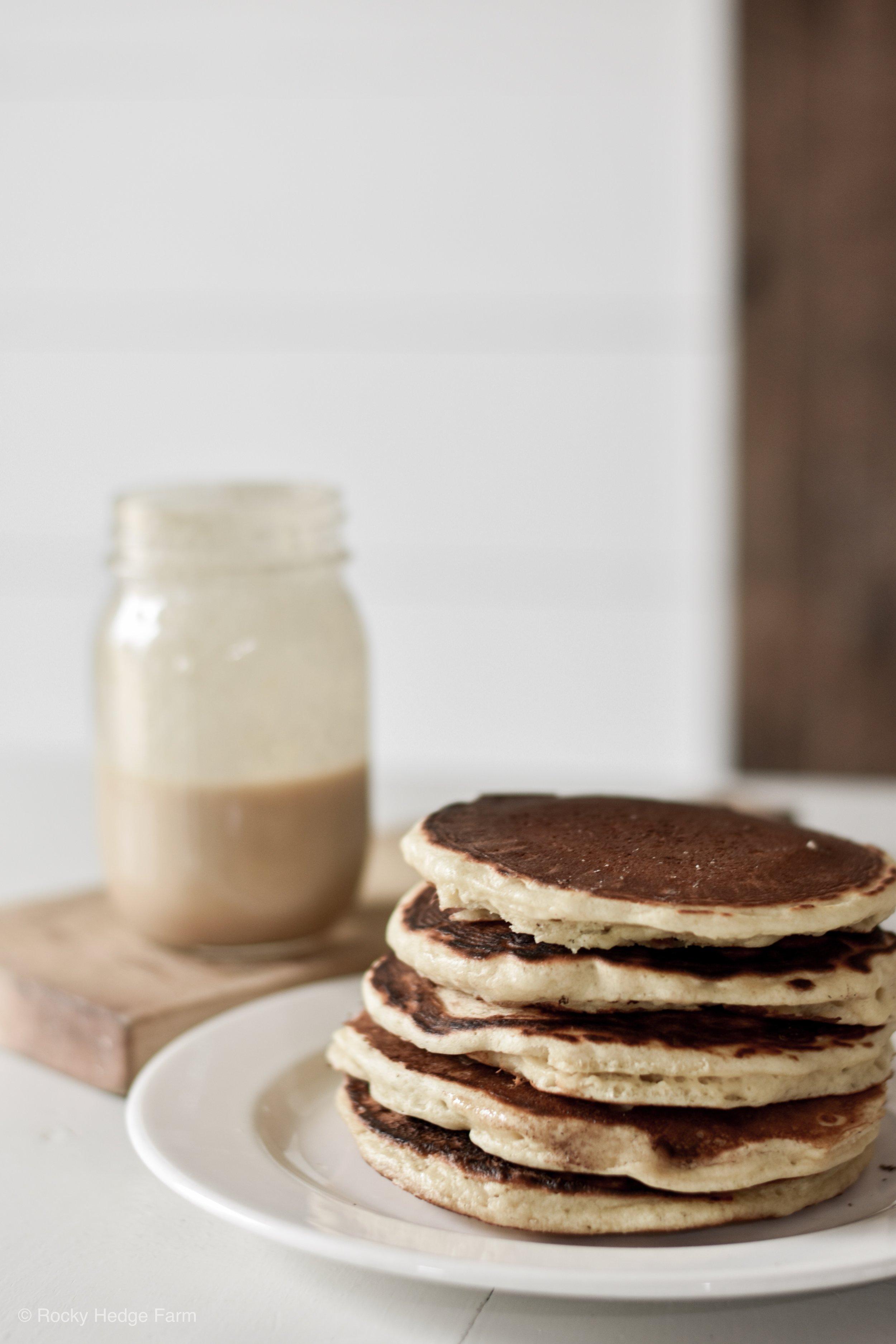 Fluffy Sourdough Pancake Recipe   Rocky Hedge Farm
