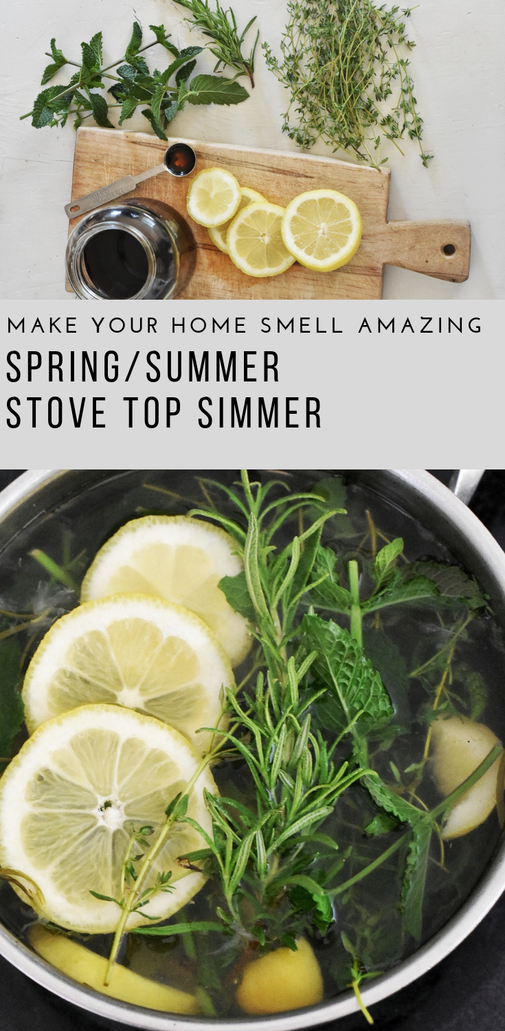 Spring Summer Stove Top Simmer How to Make Your Home Smell Good Without Candles | Rocky Hedge Farm