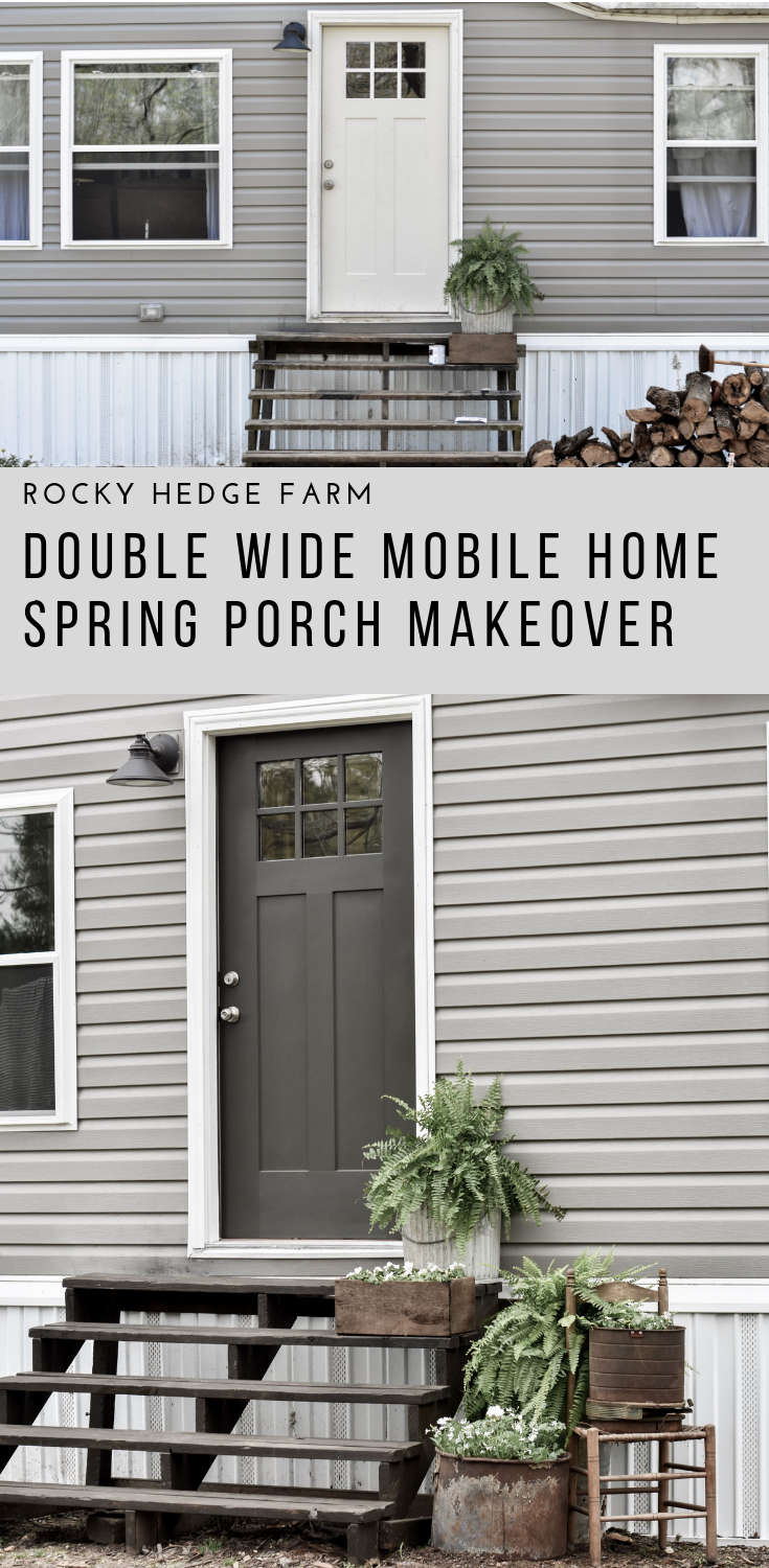 Double Wide Moble Home Spring Porch Makeover