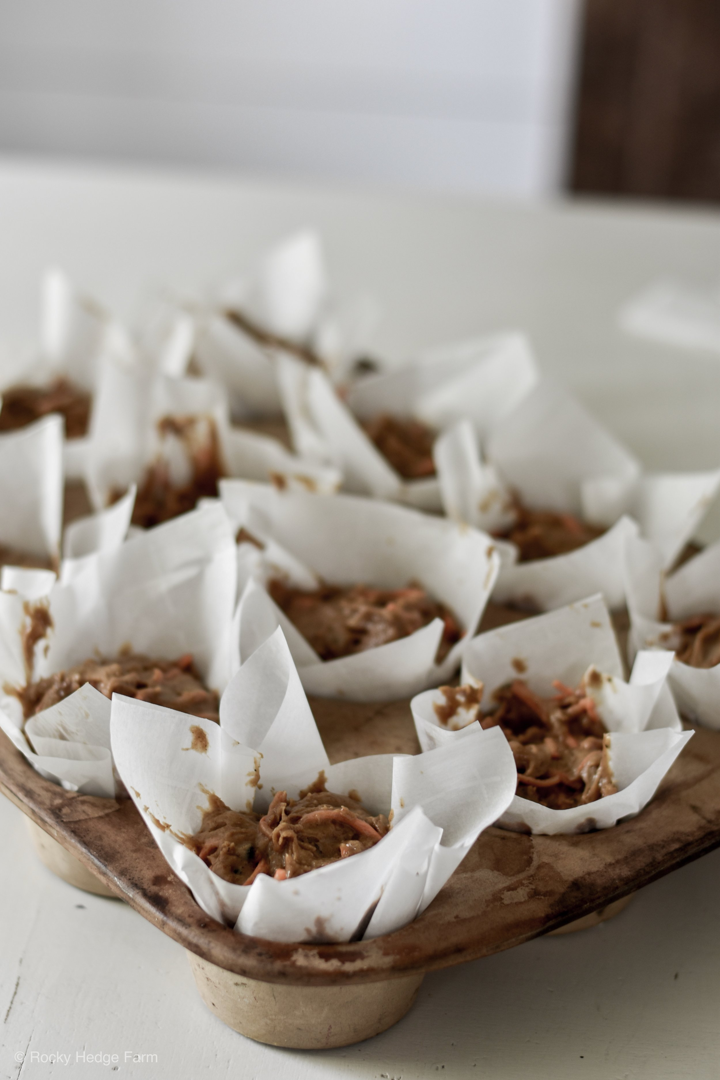 Sourdough Carrot Cupcake Recipe | Rocky Hedge Farm