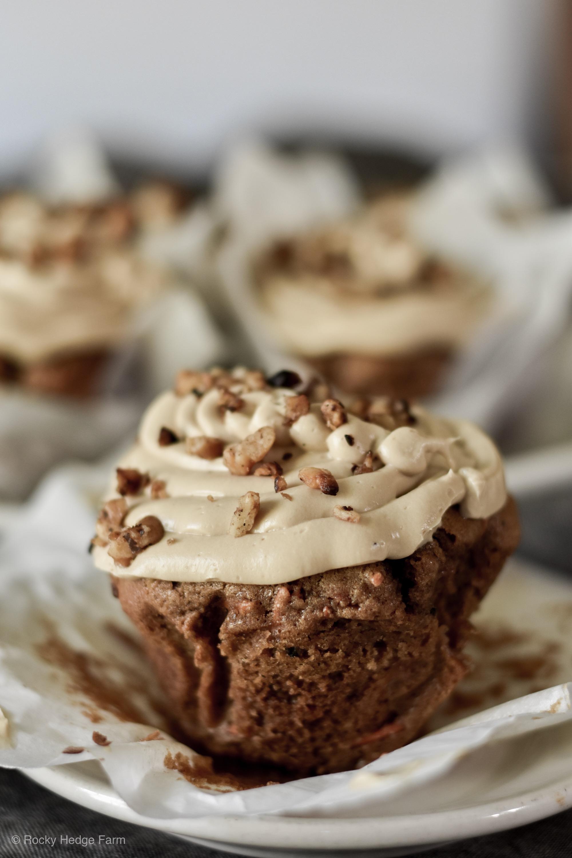 Sourdough Carrot Cake Cupcake Recipe | Rocky Hedge Farm
