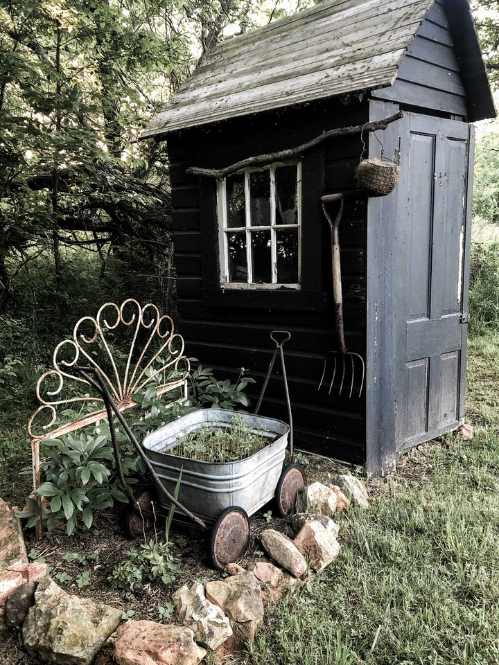 Planting Flowers in the Vegetable Garden - Peonies - Cosmos - Rustic Garden Potting Shed | Rocky Hedge Farm