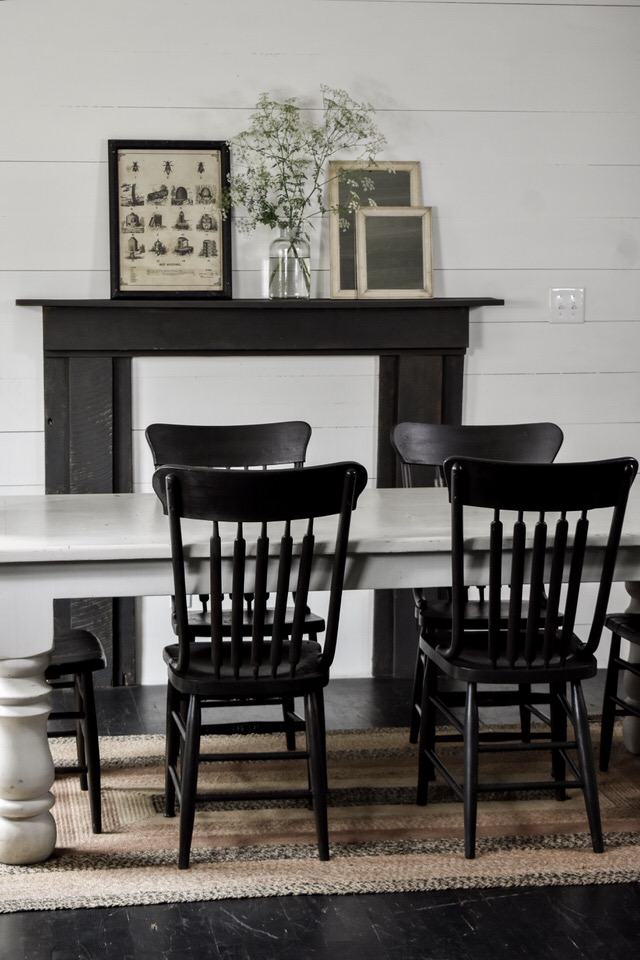 Double Wide Farmhouse Style Rustic Black Chairs | Rocky Hedge Farm