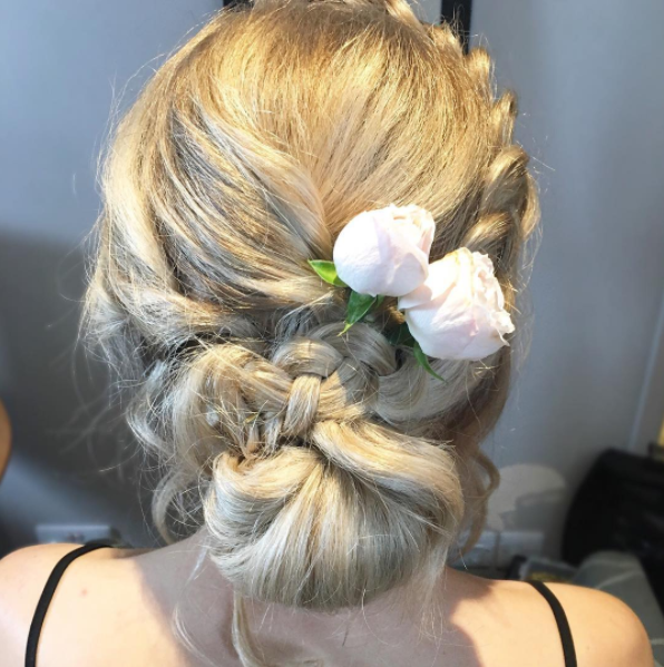 boho wedding plaits
