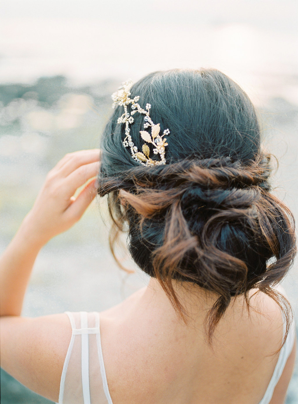 cornwall boho wedding hair
