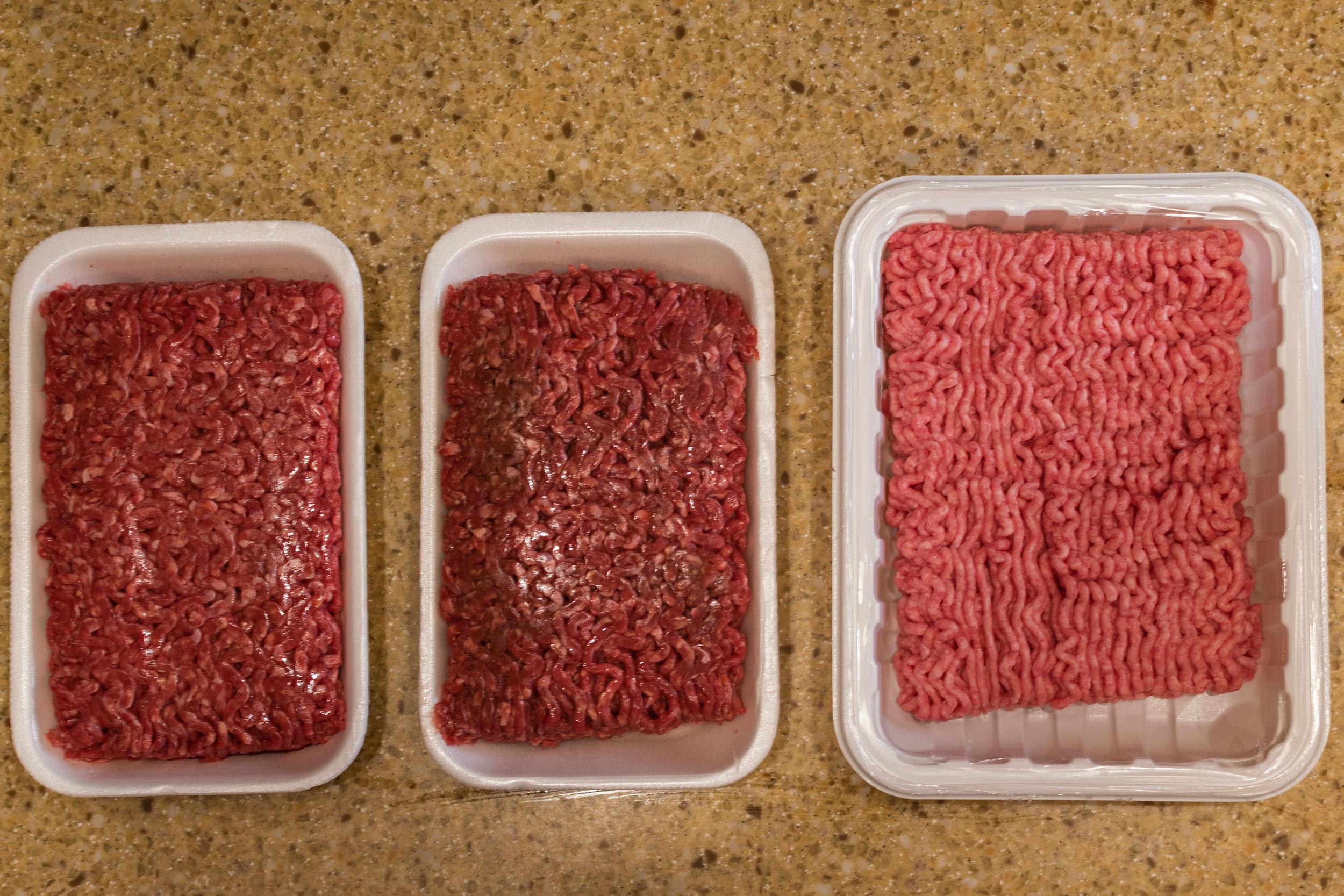 2:1 ratio of lean ground beef (90/10) to ground pork