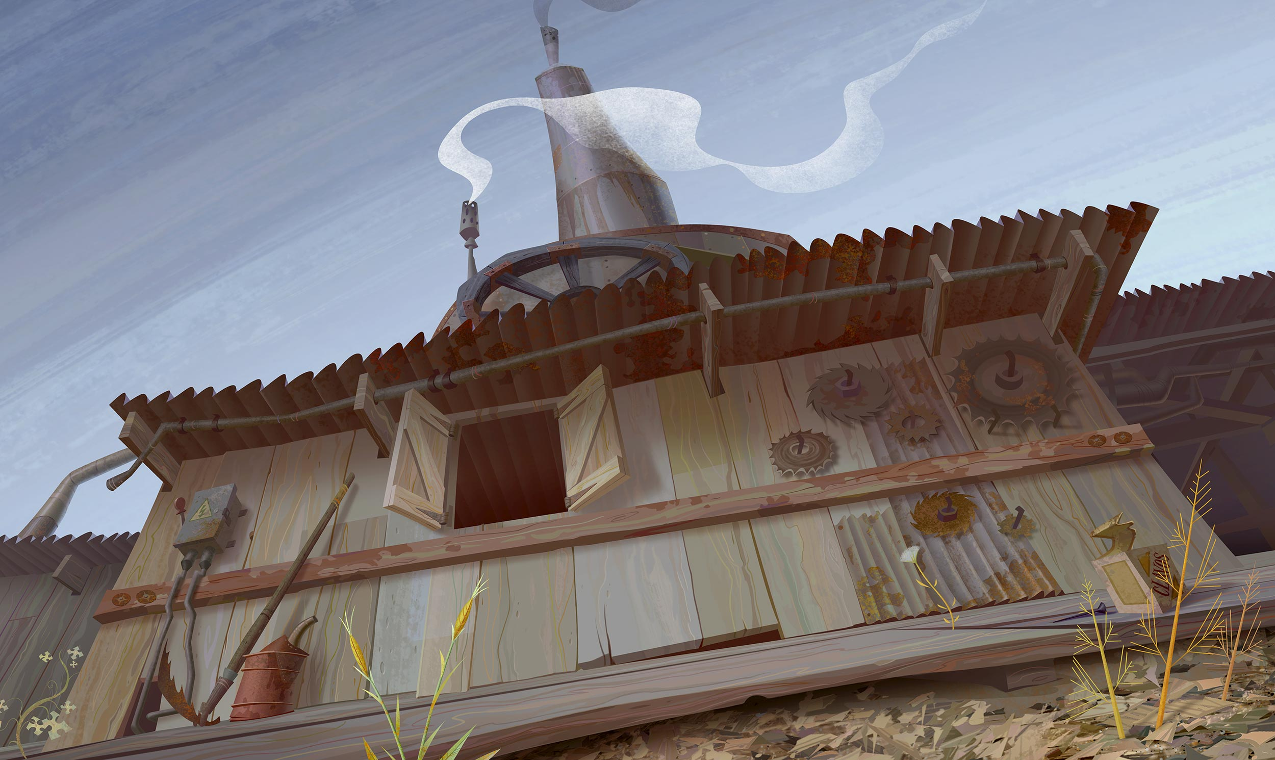 Digitally Painted in Photoshop. Copyright © 2007 Laika Entertainment