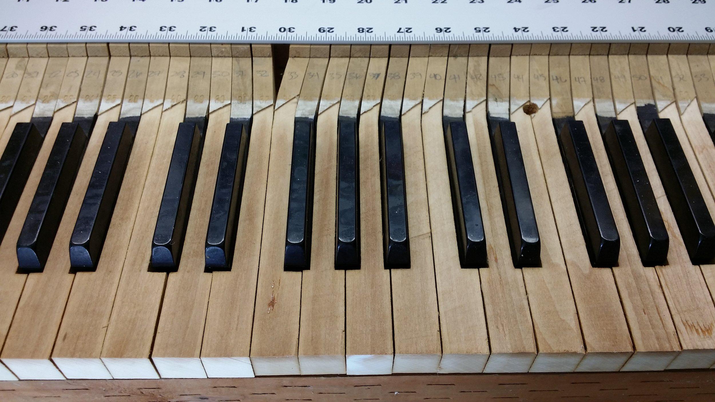 Milled Piano Keys