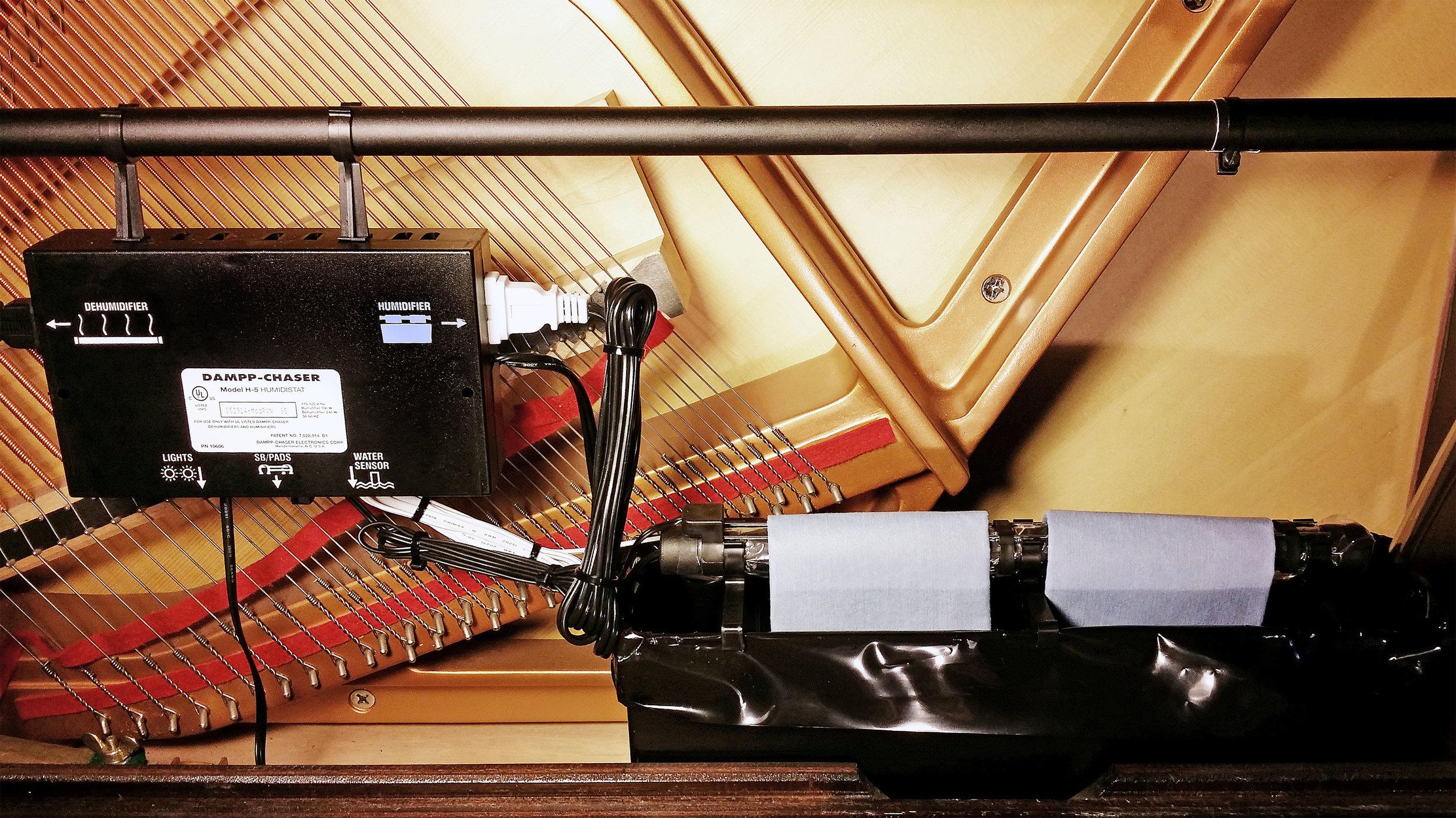 Dampp-Chaser Piano Lifesaver Upright Close Up