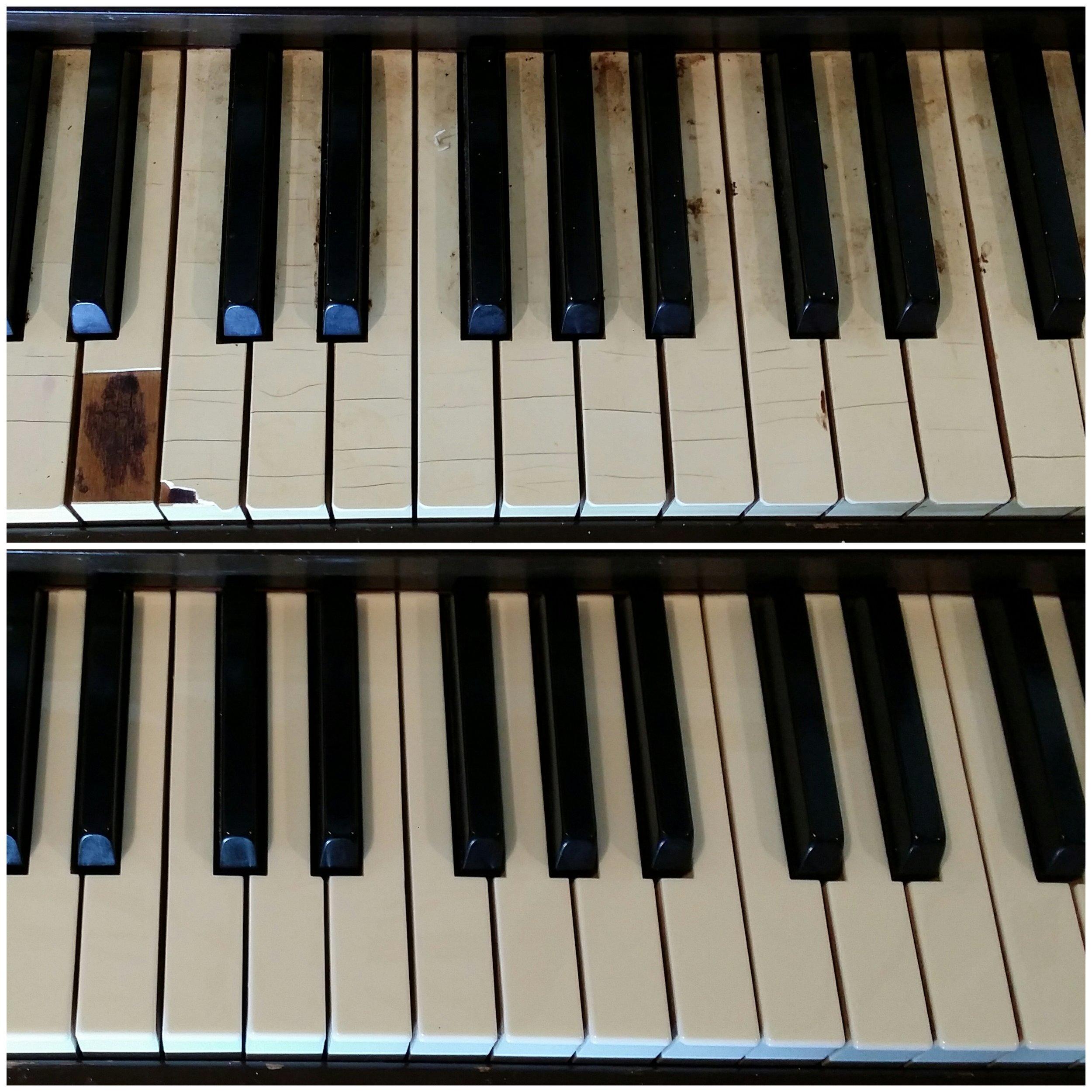 Close-up Keytops Before and After