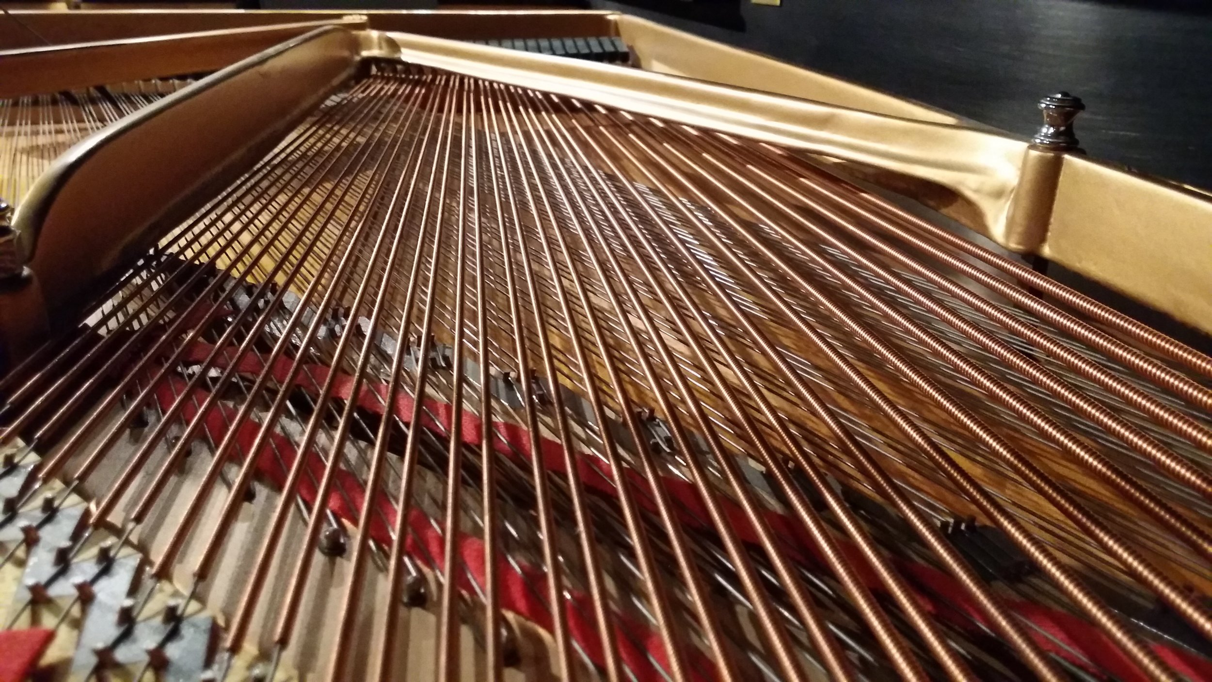 Grand piano bass strings