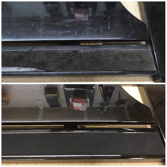 Does your piano's music rack need a makeover? We can help! #piano #boise #pianotuner #pianotechnician #pianorepair #beforeandafter