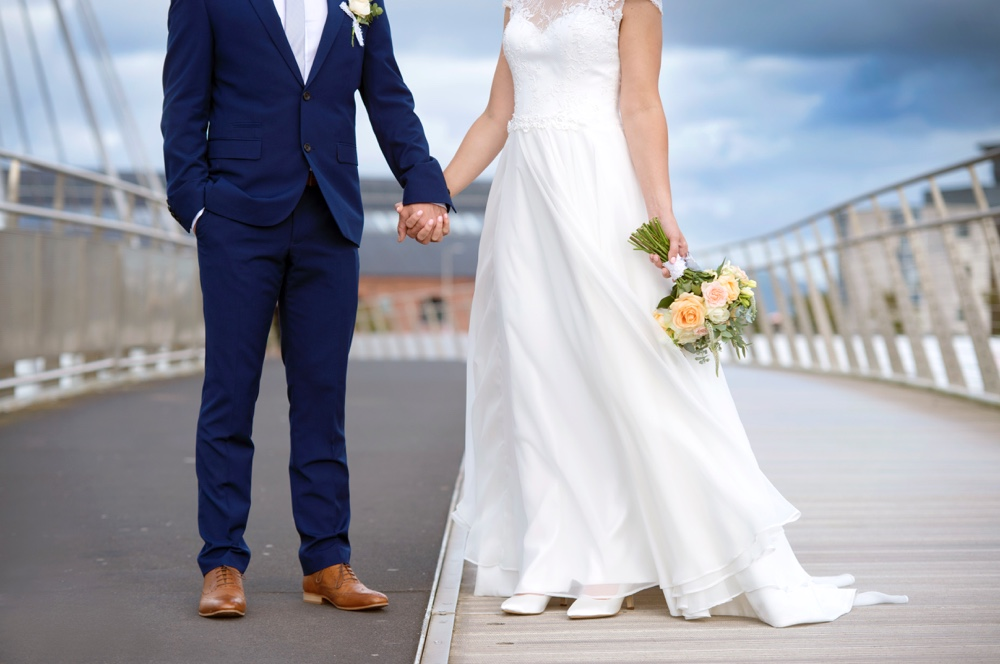 Swansea city wedding