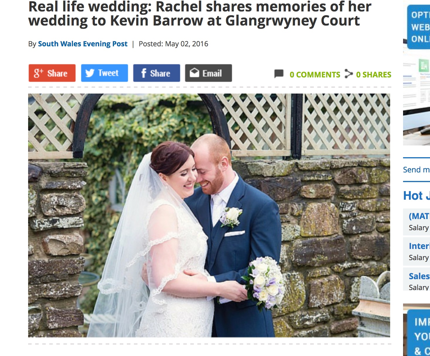 Real Life Wedding of Rachel and Kevin