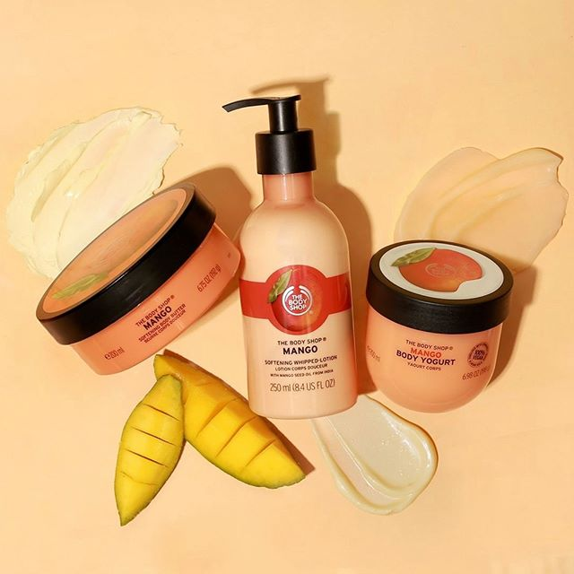 Everyone needs a little mango in their life 😆 @thebodyshop has a line of skincare with mango as the main ingredient! Mango fruit is a wonderful source of vitamins and minerals and it protects, revitalizes and smoothes your skin. 💛 #impressionpr