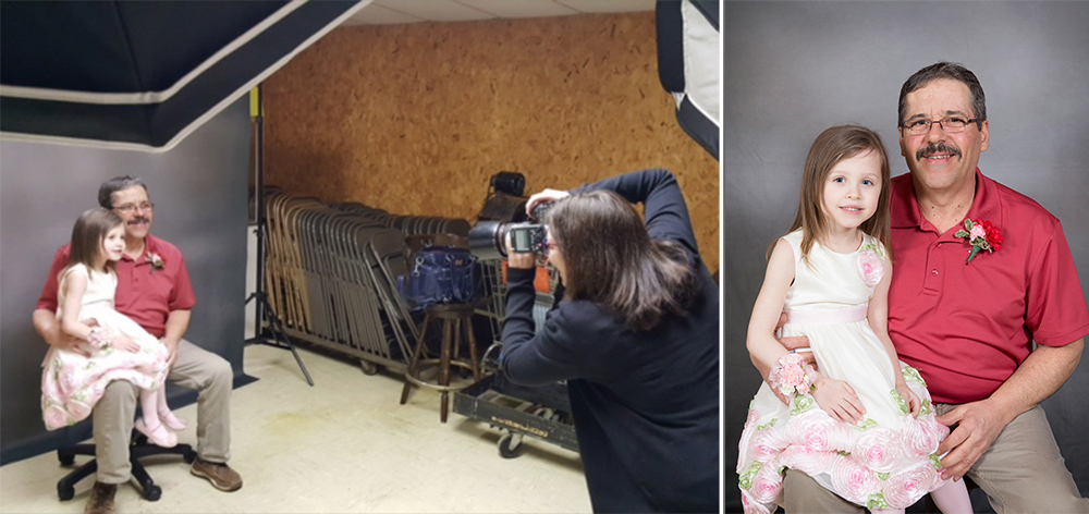 daddy daughter behind scenes