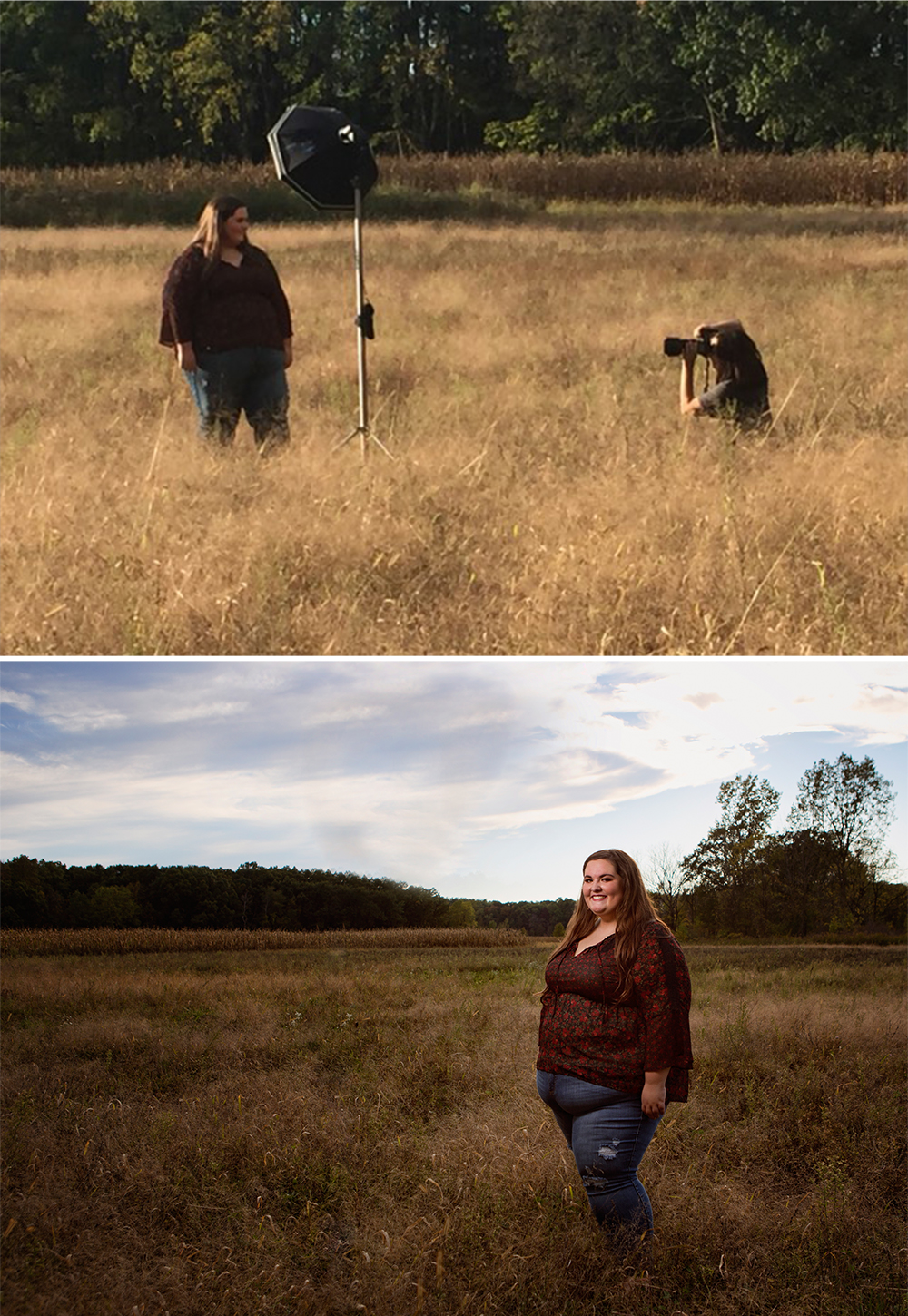 Top photo provided by Betsy Platte, Bottom photo was resulting image taken by Reflections Photography
