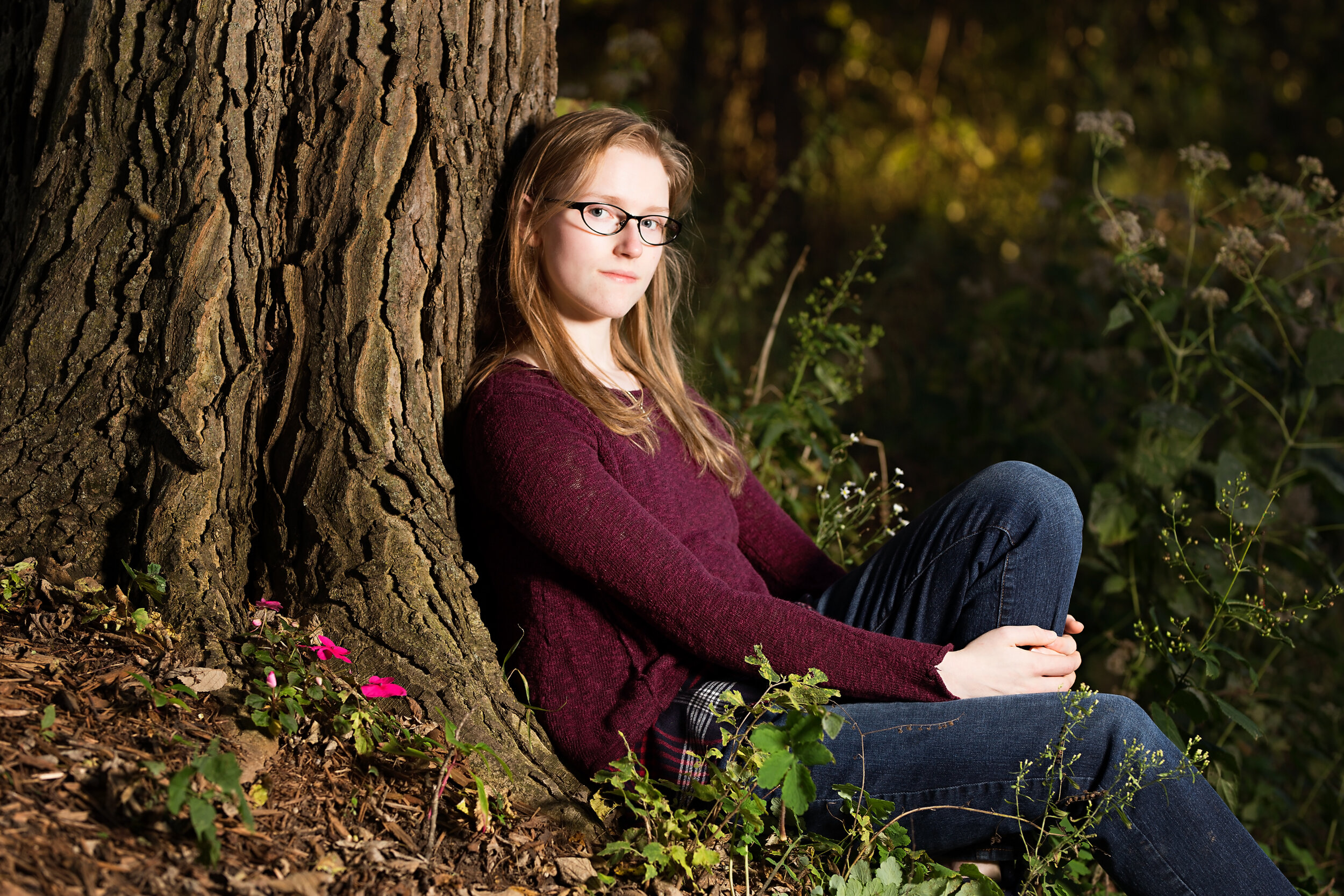 senior picture of a girl