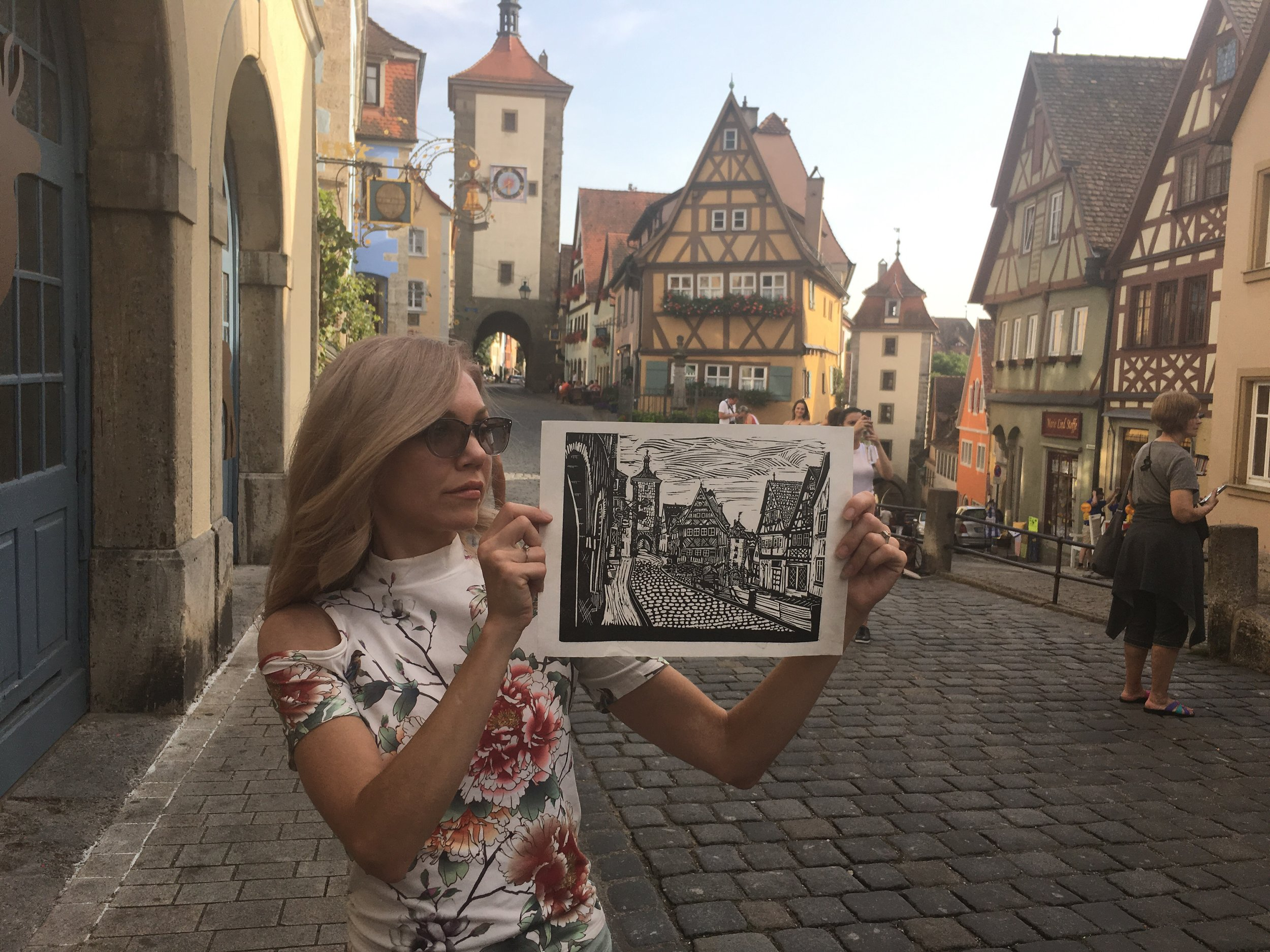 Rothenburg ob der Tauber On site during a trip to Germany in August, 2017