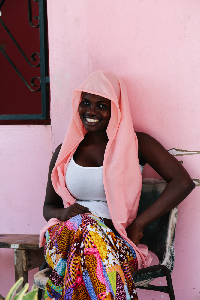 Aissata, one of our vendors for select baskets and accessories in Dakar, Senegal.