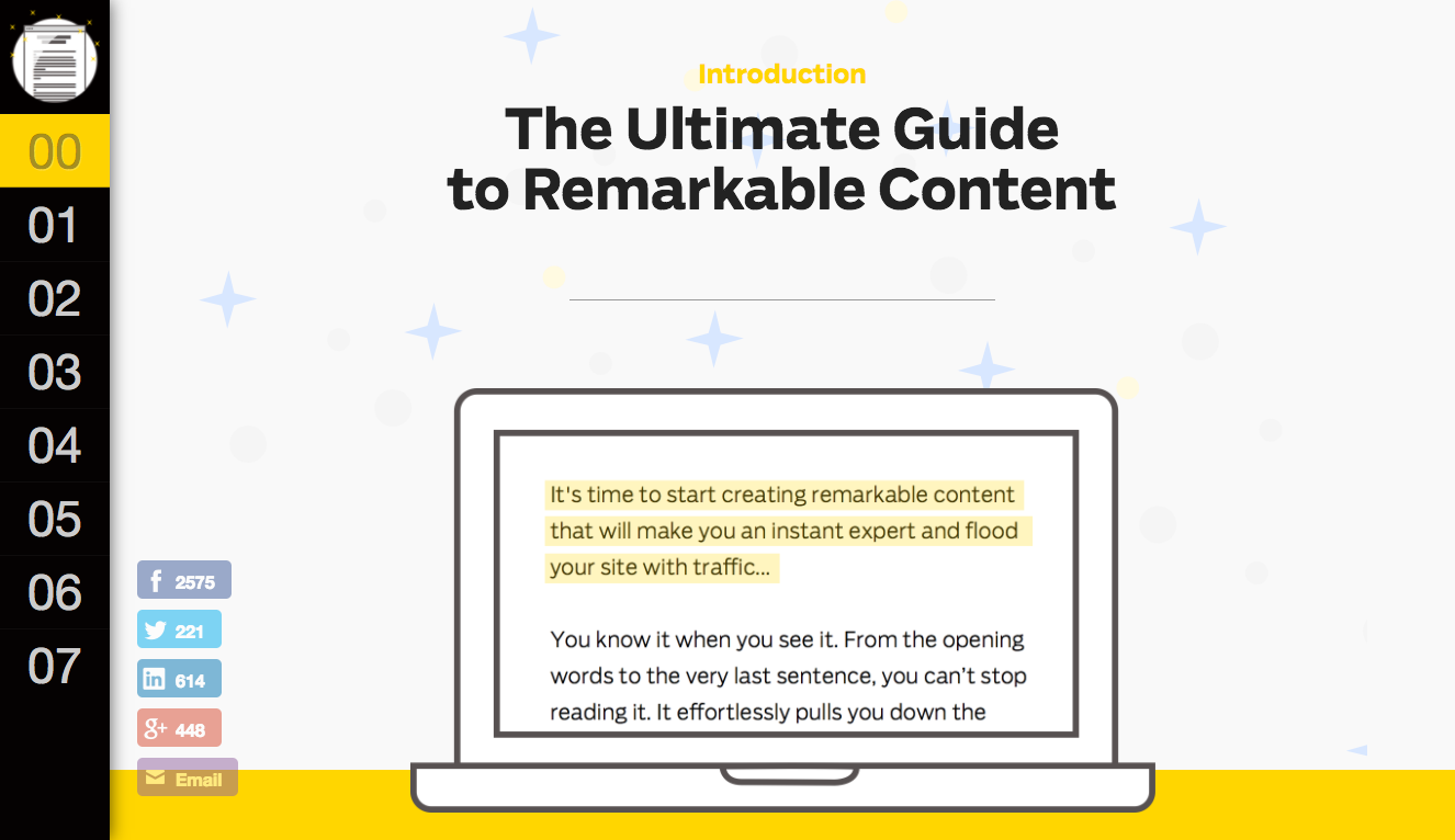 Ramit's guide to remarkable content  adds incredible value and is, well, remarkable.