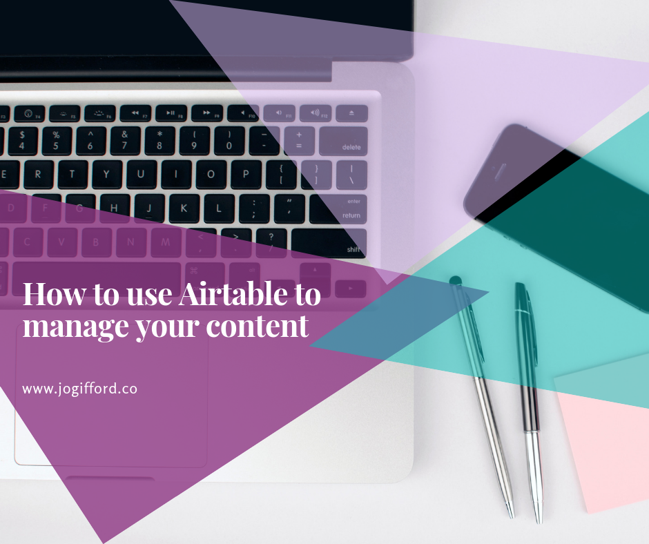 Airtable to manage content