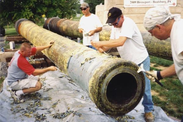 Restoration work underway