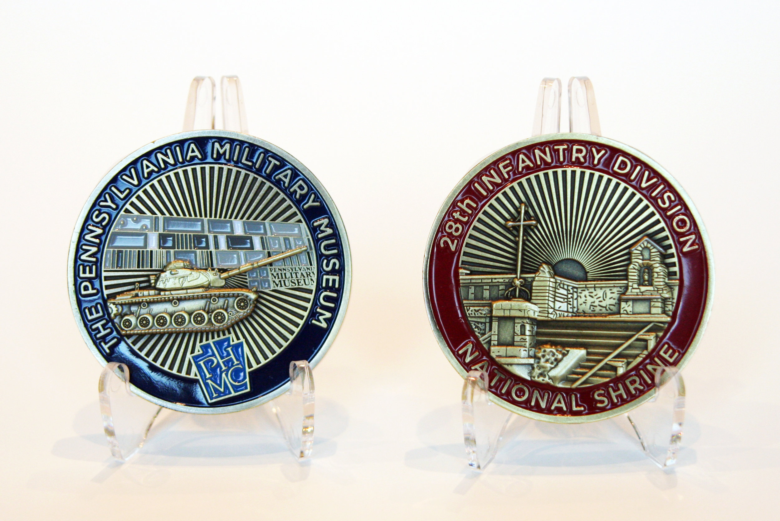 The official Pennsylvania Military Museum & 28th Infantry Division National Shrine challenge coin, available for purchase on our new online store!