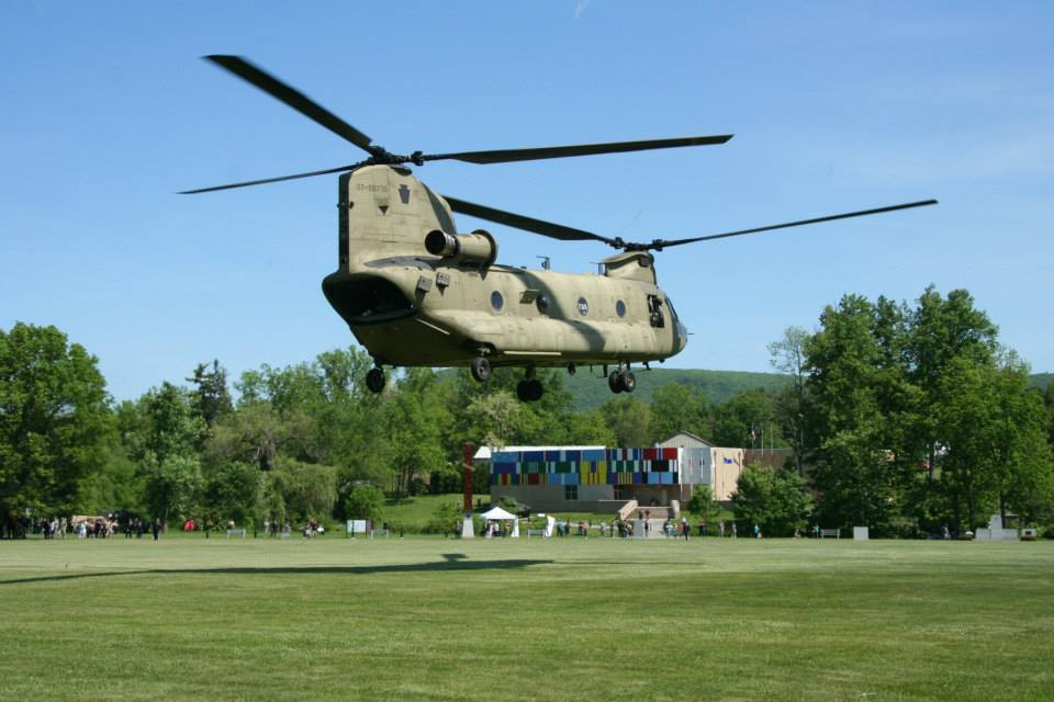 Celebration of Service Chinook over Museum.jpg