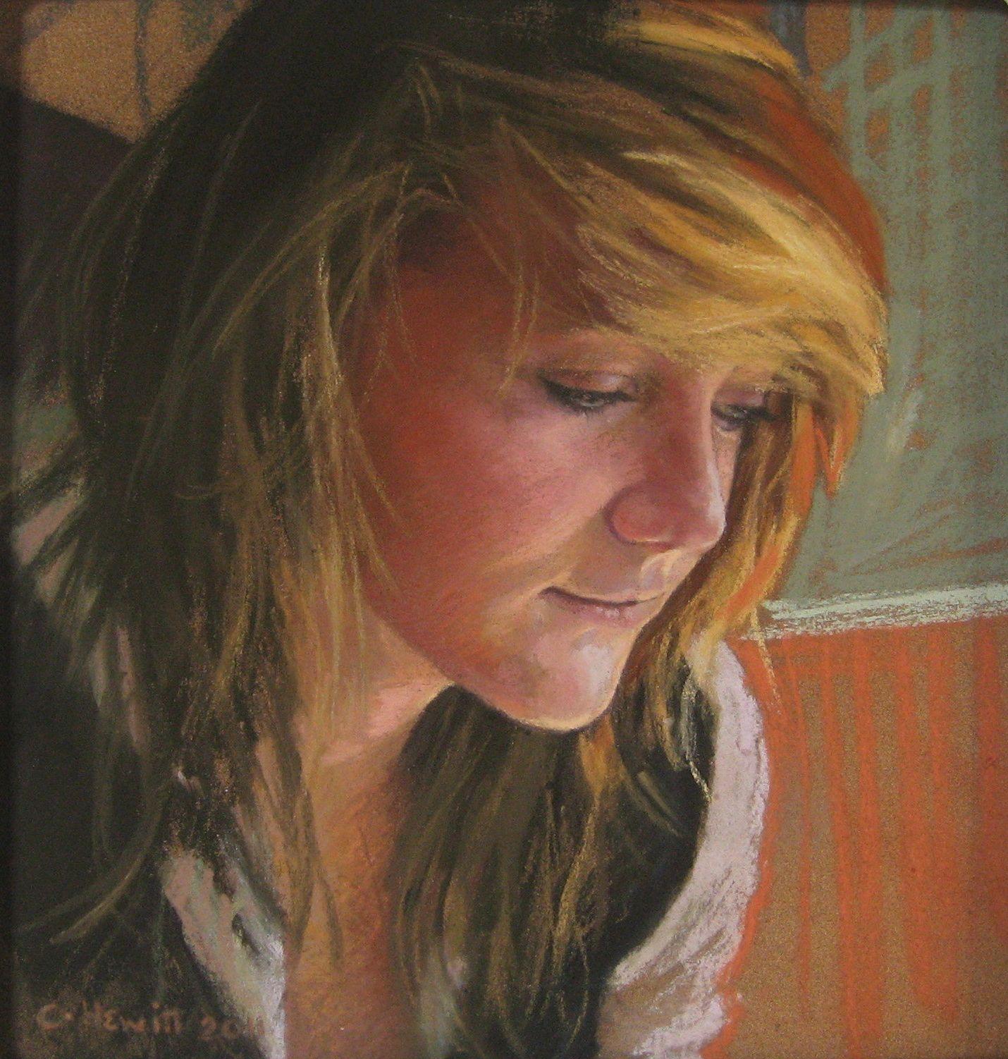 'Alice' , pastel, 22x26