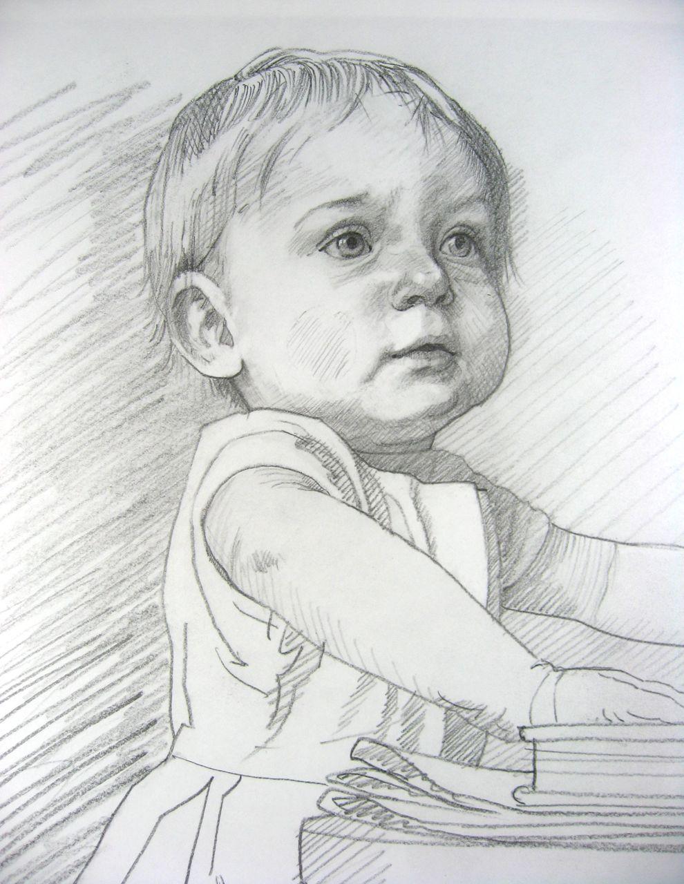 'Hadley' sketch for portrait.