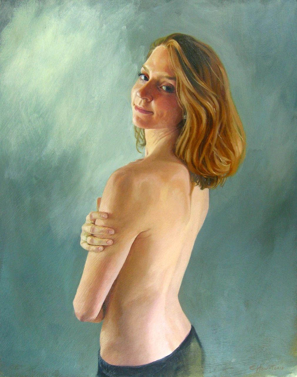 Gillian, dancer at Juilliard, NYC . Oil, 30x60cm